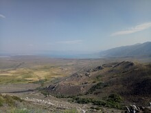 Panoramic View Of Mono Lake And Lee Vining