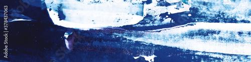 Valokuva Indigo Ink Dirty Drawing. Sky Wash Element. Sea