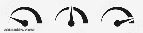 Photo Speedometer , tachometer, speed indicator icons set