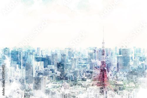 Fototapeta 東京の都市風景 obraz