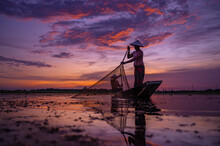Life Of Asia Two Fishermen Sil...