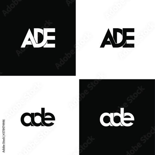 Photo ade letter original monogram logo design