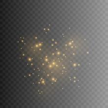 Gold Dust. Dust Effect. Light,...