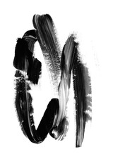 Abstract Black White Acrylic