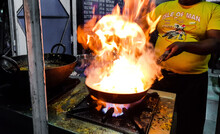 A Chef Cooking Tadka Fry In A ...