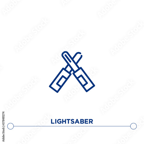 Obraz na plátně lightsaber outline vector icon