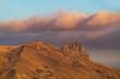 Rocky peak of holy mountain Beshbarmag located in Azerbaijan