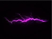 Purple Lightning On Black Background