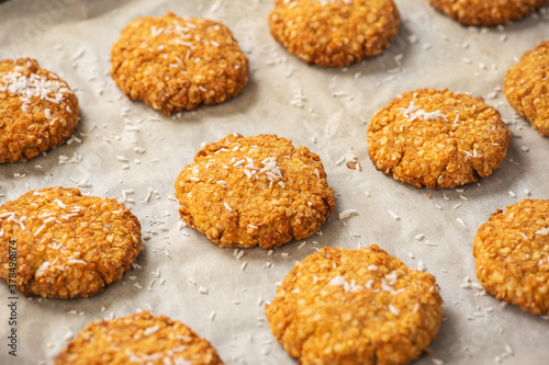 Canvastavla Gluten free millet cookies with coconut flakes.