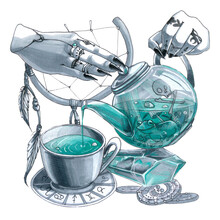 Magic Tea Pot With Potion Of C...