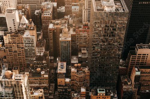 Aerial view cityscape, New York City, New York, USA  - 378509226