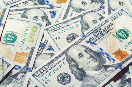 Canvastavla One hundred dollar pile as a finance background.