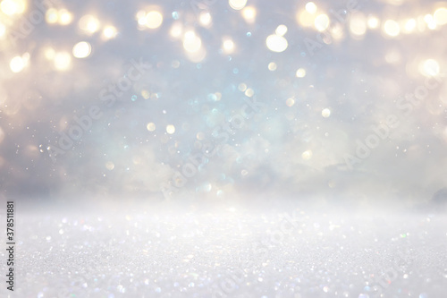 Cuadros en Lienzo glitter vintage lights background