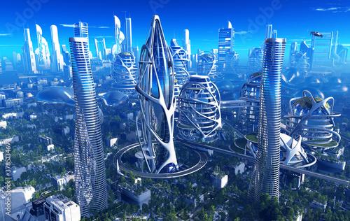 Fototapeta The city of fantasy. obraz