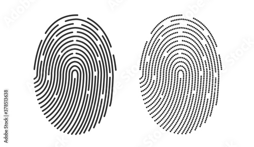 Photographie Fingerprint icon design for app and finger print flat scan