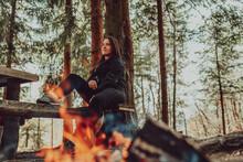 Young Woman Enjoying Nature, P...