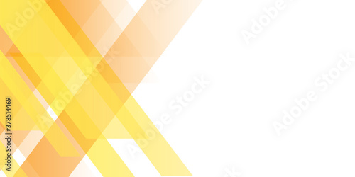 Obraz Modern orange yellow white abstract presentation background banner with shiny light - fototapety do salonu