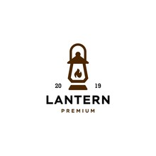 Classic Lantern Gas Fire, Street Lamp, Lantern Post, Classic Lamp Logo Icon Design , Restaurant Vintage Logo Design Vector