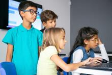 Little Girls Using Laptops, St...