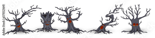 helloween tree character with creepy face and cute Wallpaper Mural
