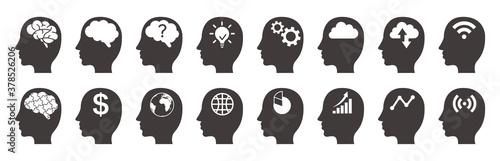 Fototapeta Human brain. Isolated vector icon