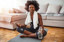 Exercise Staying Home Woman Wa...