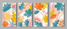 Set Of Vertical Backgrounds Wi...