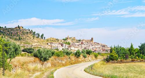 Fototapeta Panorámica de La Fresneda en Teruel, Aragón, España, Europa