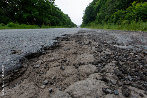 Obraz na plátně Very bad road in Russia
