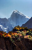 autumn at hunza and nagar northern areas of   gilgit baltistan , Pakistan