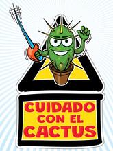 Cuidado Con El Cactus - Dibujo...
