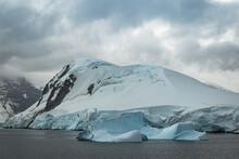 Iceberg And Glacier Along The ...