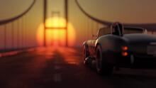Car Driving On The Bridge Towa...