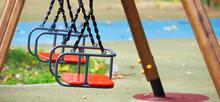 Empty Chain Swing In Playgroun...