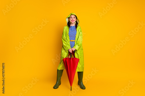 Tela Full length body size view of her she nice attractive pretty cheerful cheery fun