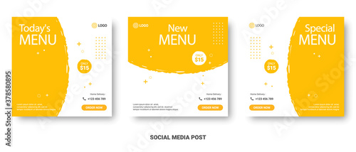 Food menu banner social media post Canvas