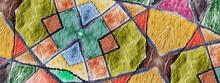 Batik Zigzags. Mosaic Texture....