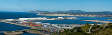 Port Of Bilbao With Ships And ...