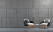 Leinwanddruck Bild Modern cozy lounge and living room design mock up and wall pattern background