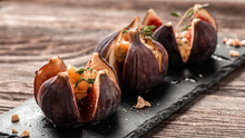 Figs Appetizer With Cheese, Th...