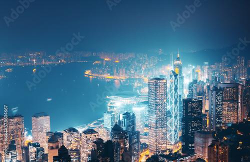 Fototapeta Hong kong from the Victoria peak obraz
