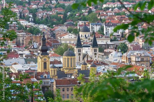 Foto Sarajevo cityscape - Sarajevo, the capital city of Bosnia and Herzegovina
