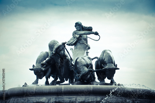 Copenhagen, Denmark - Gefion fountain located in Nordre Toldbod area next to Kas Canvas