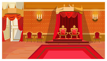 Red Royal Thrones In Palace Ve...