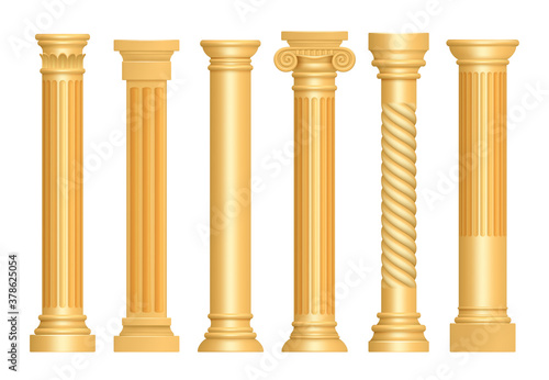 Foto Golden antique column