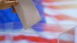 Voting in USA in 4k slow motion 60fps