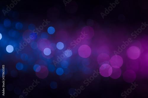 Canvastavla Blue and purple bokeh background.