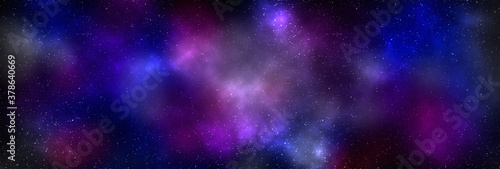 Obraz na plátně Planets and galaxy, science fiction wallpaper