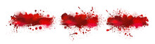 Set Red Bloody Stain. Vector I...