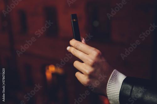 Obraz na plátně POD or ultra-portable systems vape is the newest Electronic cigarette technology